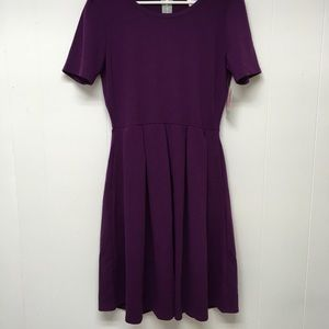 LuLaRoe Amelia Dress Purple New XL Zipper